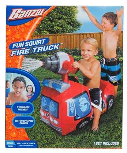 Banzai Fire Truck Water Sprinkler