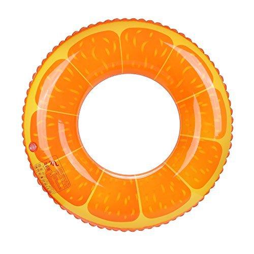 Kids Swimming Ring Children Pool Ring Carol Don Kids Pool Float Pool Floats Inflatable Pool Swimming Pool Inner Tube Swimming Pool Toys Orange by Carol Don