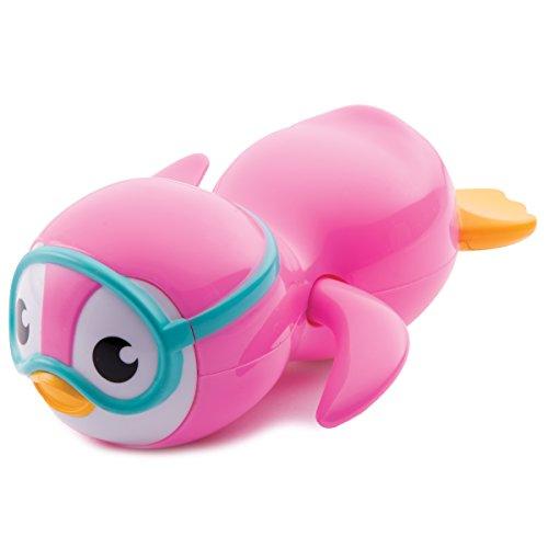Munchkin Wind Up Swimming Penguin Bath Toy Pink
