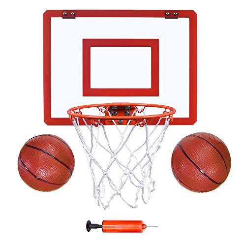 Indoor Mini Basketball Hoop and Balls 16 x12 - Basketball Hoop for Door Set - Indoor Mini Basketball Game for Kids