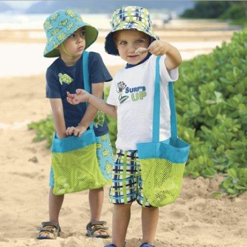 CITY Sand Away Beach Mesh Bag Tote Sand Away Beach Treasures Starfish Shell Bag Toys Kids Sandboxes