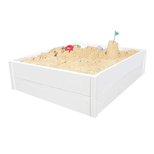 Raised 4 ft Rectangular Sandbox Kids Sandbox