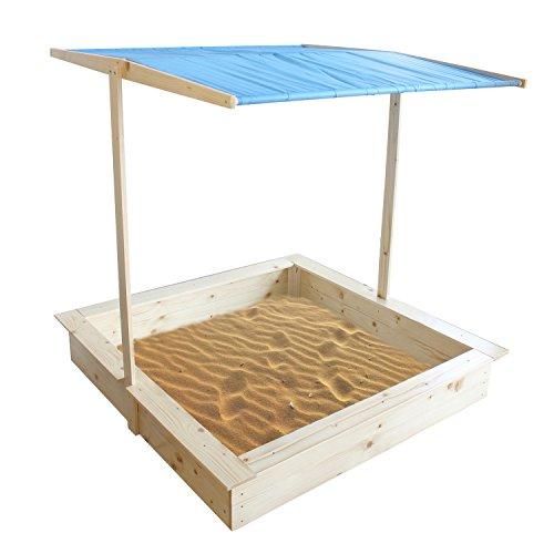 Wood 375 Square Sandbox with Cover Kids Sandbox