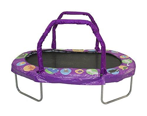 JumpKing Mini Oval Trampoline with Purple Pad 38 x 66
