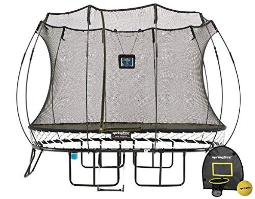 Springfree Trampoline - 8x11ft Medium Oval Smart Trampoline With Basketball Hoop Ladder tgoma