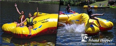 Island Hopper Double Blaster Water Trampoline Attachment