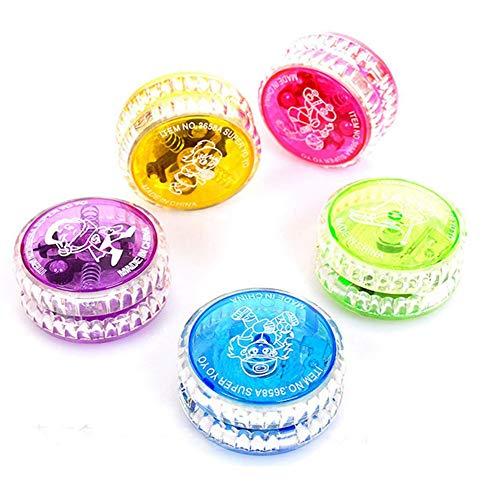 Interesting Light Up Yoyo Trick Yo Yo Child Clutch Mechanism Toy Speed Ball Return Top Random Color