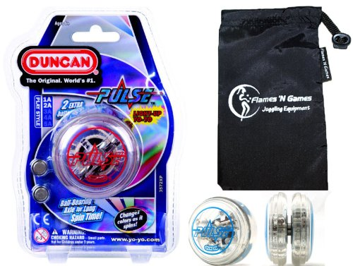Duncan PULSE LED YoYo Red Professional Light-Up Bearing String Tricks Yo Yo  Travel Bag BATTERIES INCLUDED
