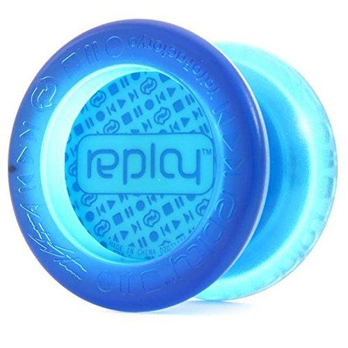 YoYoFactory Replay Yo-Yo - Great Beginner Yo-Yo Translucent Aqua Aqua Cap