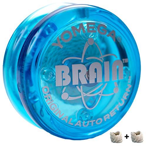 Yomega The Original Brain - Professional Yoyo for Kids and Beginners Responsive Auto Return Yo Yo Best for String Tricks  Extra 2 Strings 3 Month Warranty Blue