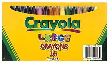 Crayola Large Size Crayon 16Pk By Crayola Llc