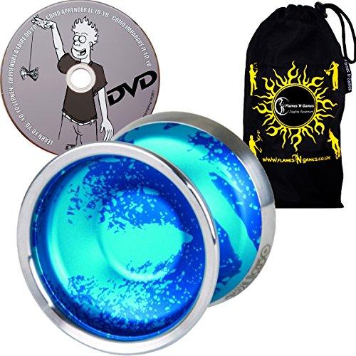 Duncan Orbital Medium Advanced Competition Model Yoyo - Supreme Quality Aluminium Medium Yo Yo For 1A Tricks  Learn DVD  Travel Bag Ideal Yo-Yo for Competitions Off All Ages