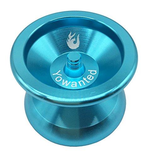 Yowanted Blue Aluminum Alloy Metal Bearing Professional Yo-Yo Toys Unresponsive YoYo Ball- 3 Strings 1 Yo-Yo Glove