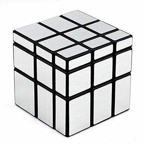 D-FantiX Shengshou Mirror Cube 3x3 Speed Unequal Cube Puzzle Silver Black 57mm