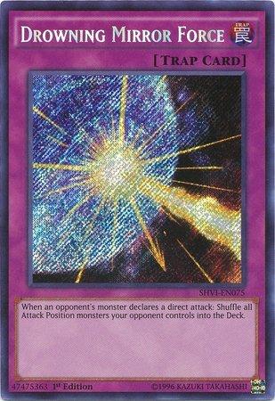 Yu-Gi-Oh - Drowning Mirror Force SHVI-EN075 - Shining Victories - 1st Edition - Secret Rare