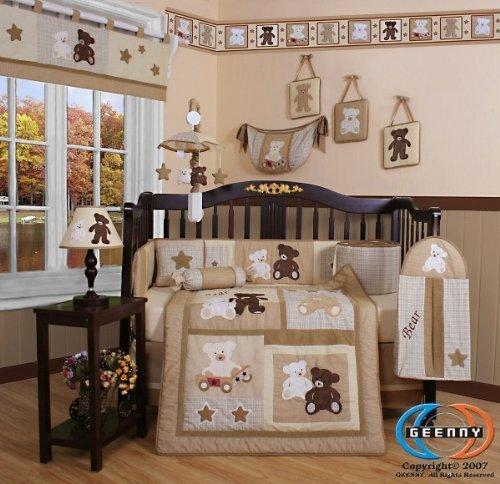 GEENNY Boutique 13 Piece Crib Bedding Set Baby Teddy Bear by GEENNY