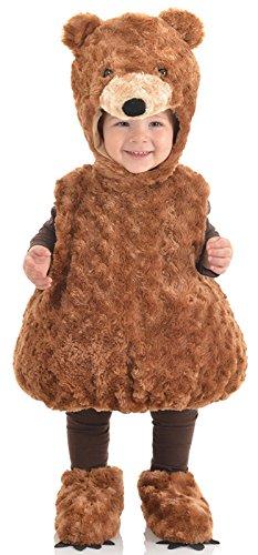 Underwraps Babys Teddy Bear Belly Brown Large