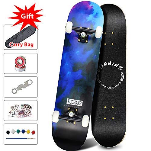 Phoeros Complete Skateboards -Standard Skateboards for Beginners Starter - 31x 8Canadian Maple Pro Cruiser Standard Skate Boards