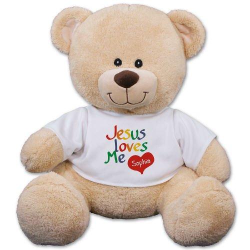 11 Personalized Jesus Loves Me Teddy Bear