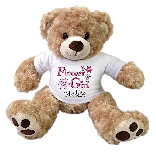 Flower Girl Personalized Teddy Bear - Honey Vera Bear