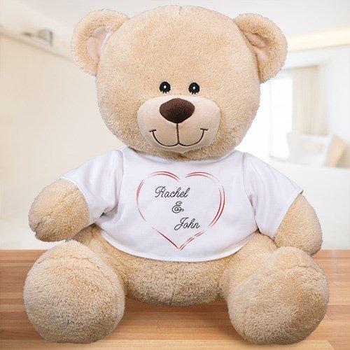 Personalized Heart Couple Teddy Bear 11