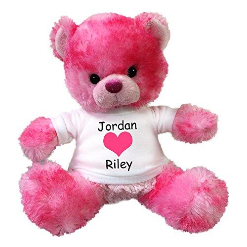 Personalized Valentine Teddy Bear - 10 Pink Cherrydrop Bear