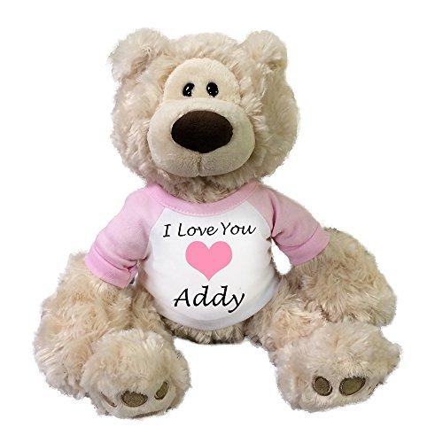 Personalized Valentine Teddy Bear - 12 Beige Gund Philbin Bear