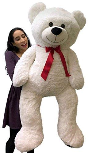 Giant Teddy Bear 48 Inch White Soft Premium Quality 4 Foot Big Teddybear