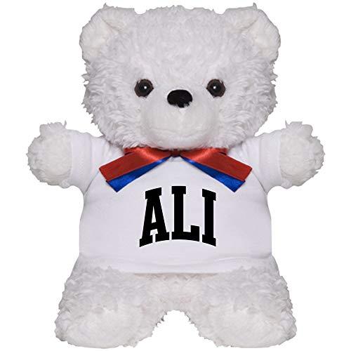 CafePress ALI Curve Black Teddy Bear Plush Stuffed Animal