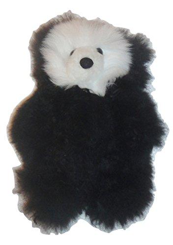 Medium Black Baby Alpaca Teddy Bear Handmade in Peru