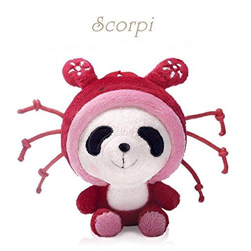 Panda Plush Toy 12 Constellations Soft Stuffed Animal Doll Christmas Birthday Gift Scorpio 4Inch