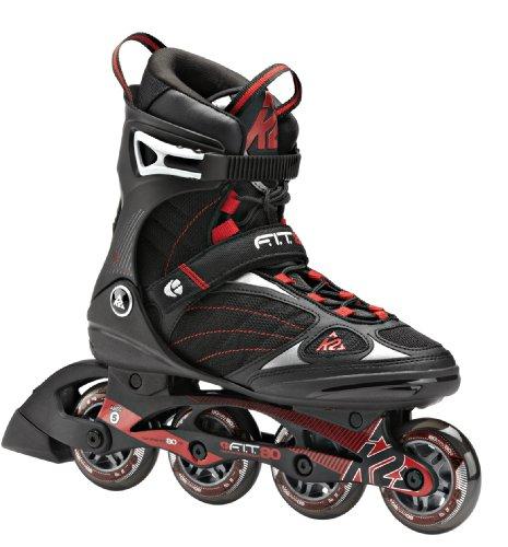 K2 Skate FIT 80 Inline Skates BlackRed 7