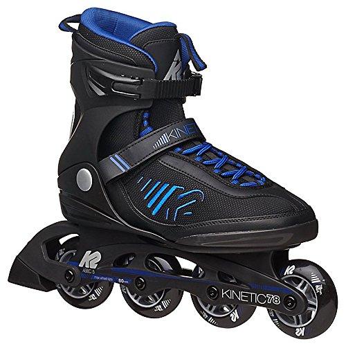 K2 Skate Mens Kinetic 78 Inline Skates Black 14