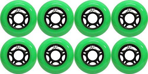 KSS Outdoor Asphalt Formula 89A Inline Skate X8 Wheels Green 80mm