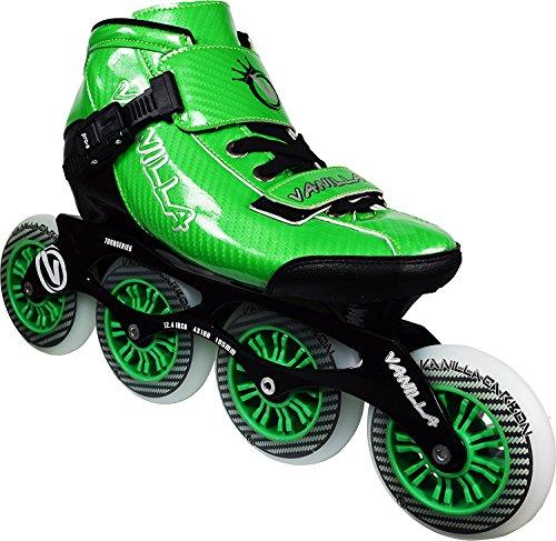 VNLA Carbon Speed Inline Skates - Green - Size 9