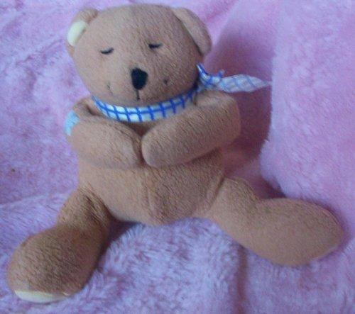 8 Plush Brown Teddy Bear Praying Doll Toy