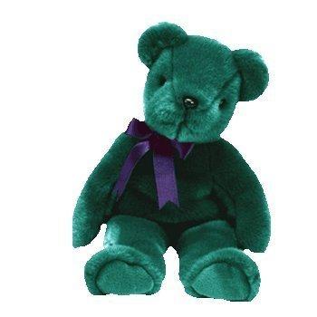 TY BEANIE BUDDY GREEN TEDDY SOFT TOY IN UK FABULOUS by Ty