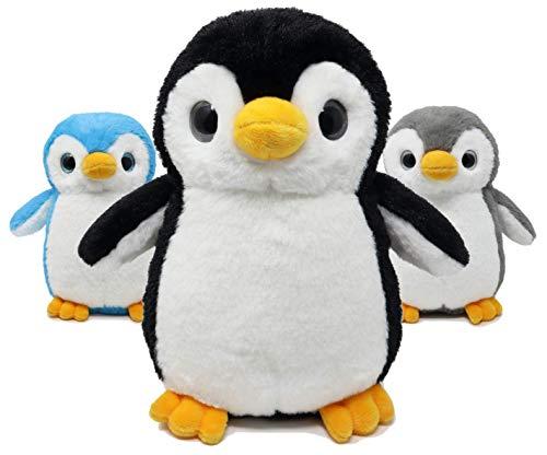 Fluffuns Penguin Plush - Cute Plush Baby Penguin Stuffed Animal Doll - Stuffed Penguin Plush - 9 Inch Height 3 Colors