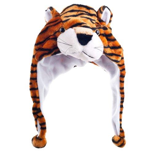 Critter Cap Plush Tiger Hat