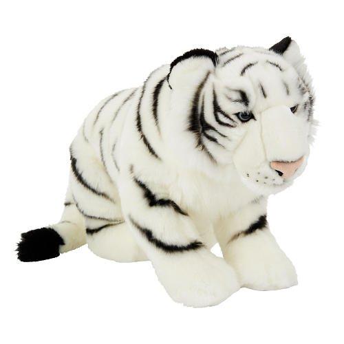 FAO Schwarz 19 inch Plush Tiger - White