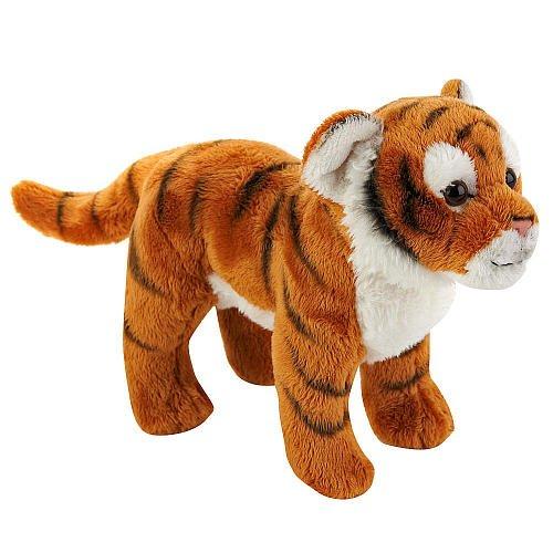 FAO Schwarz 7 inch Miniature Plush Tiger - Orange