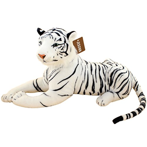 Jesonn Realistic Giant Stuffed Animals Plush Toy Tiger White for Kids Gifts236 or 60CM1PC