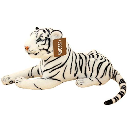 Jesonn Stuffed Tiger Plush Toy 135-Inch White