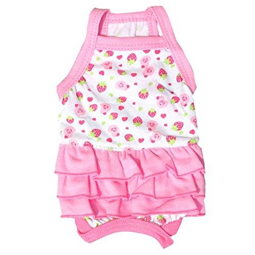 Pet DressHaoricu Pink Cute Cotton Sweet Suspenders Skirt Pet Small Dog Dog Tutu Dress Pet Clothing L A