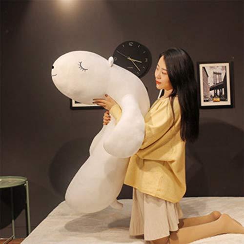 ILYFEY Large Plush Doll Big Fat Bear Yellow and White Doll Sleeping ToyWhite43in