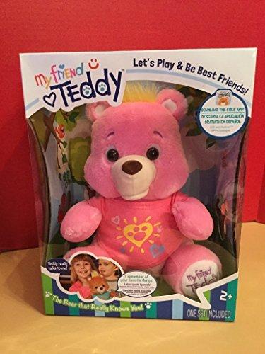 Genesis Toys My Friend TeddyFreddy Talking Smart Bear Plush Stuffed Animal - Pink Color