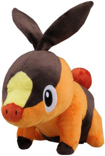Takara Tomy Pokemon Black White Voice Activated Talking Plush Toy - 12 Pokabu  Tepig Japanese Import