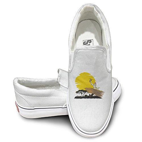ALIPAPA Custom Mens Womens Vintage Lion King Was Occupied Fashion Shoes White Size 41