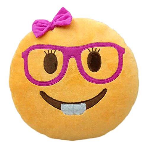 Poop Emoji Pillow Emoticon Stuffed Plush Toy Doll Smiley Cat Heart Eyes Alien Devil Kiss Face LADY NERD