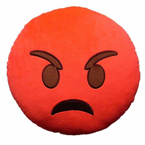 32cm Red Angry Emoji Plush Pillow